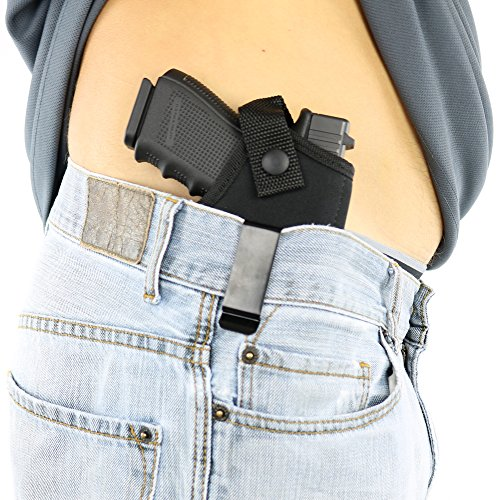 ComfortTac Concealed Carry Holster | Carry Inside The Waistband IWB or Outside The Waistband OWB | Size 4 Fits Glock 19 23 25 30 32 38 Springfield XDs XDe and Similar Guns (Right)