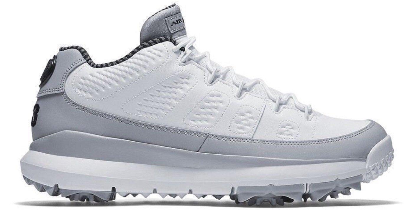 e759978c40e6ce Nike Air Jordan IX Retro Golf Shoe White Black-Wolf Grey Barons 833798 103  Men s Size 8