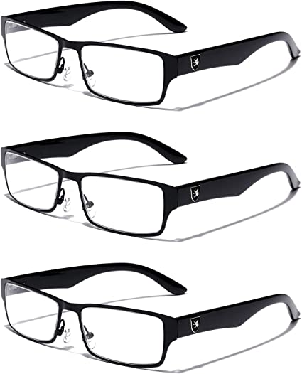 Rectangular Frame Clear Lens Non Prescription Men Women Performance Eye Glasses