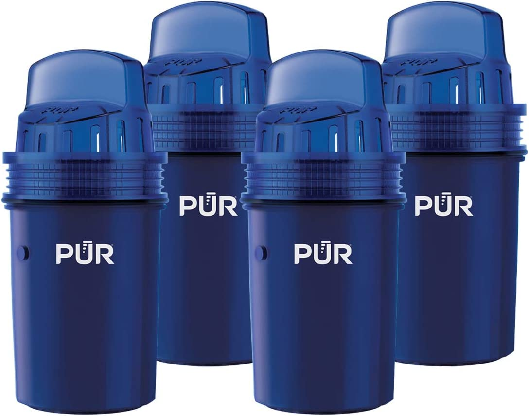 PUR Water Pitcher Filter Replacement 4 Pack, (Faster Pour)