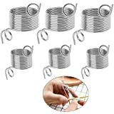 6 Pack 2 Size Metal Yarn Guide Finger Holder Knitting Thimble for Crochet Knitting Crafts Accessories Tool