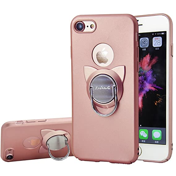 watch c3087 b9da2 iPhone 6s Case,iPhone 6 Case with Ring Holder Kickstand,Cute Cat Rotating  Ring Stand and Slim Thin Anti-Fingerprint Hard Case for iPhone 6/6s 4.7 ...