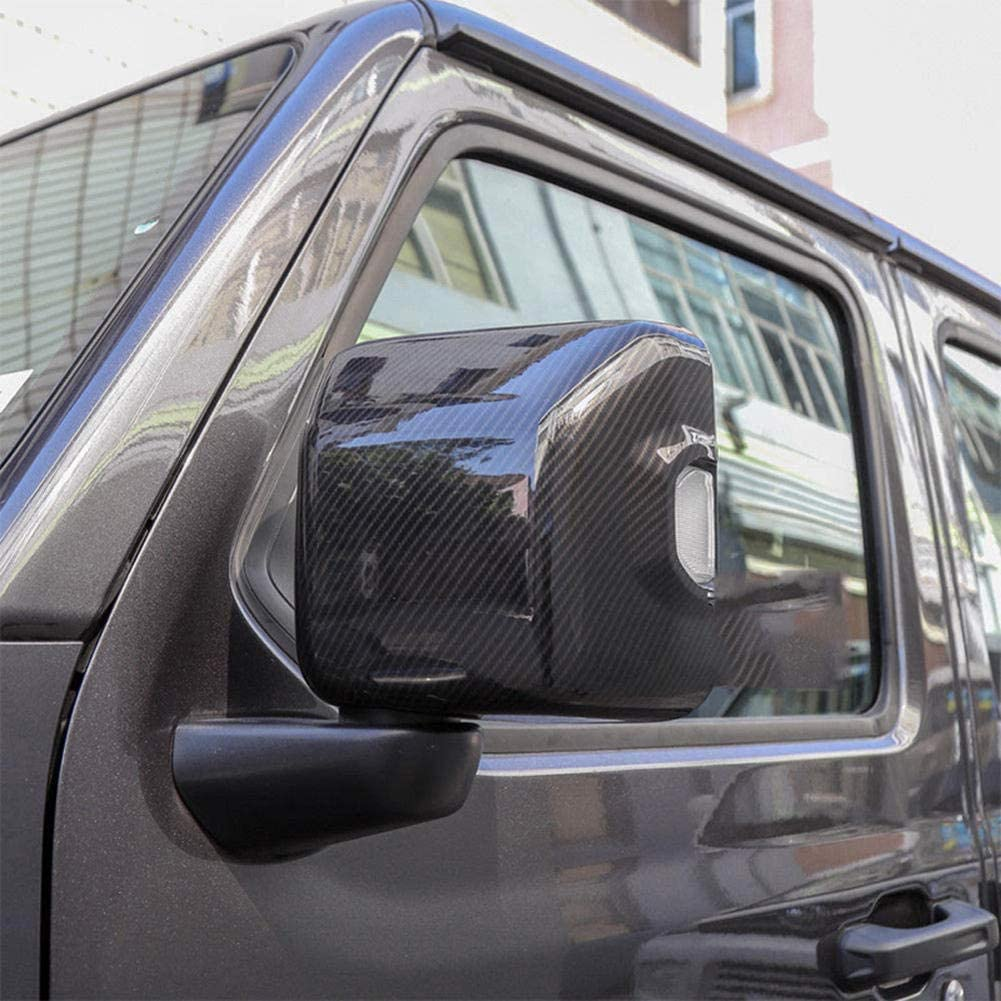 per Jeep Wrangler JL 2018 ZIMAwd 1 Paio di Cover Decorative per Copertura specchietto retrovisore per Auto in ABS