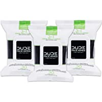 3-Pack of 30-Count Dude Face & Body Wipes