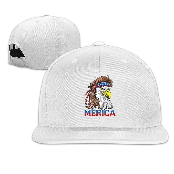 0c12f372 Bald Eagle Mullet 4th of July - Merica Classic Adult Caps Flat Along ...