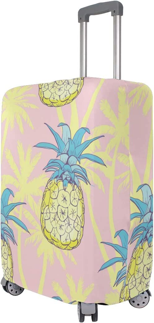 Travel Luggage Cover Summer Pineapple Yellow Suitcase Protector