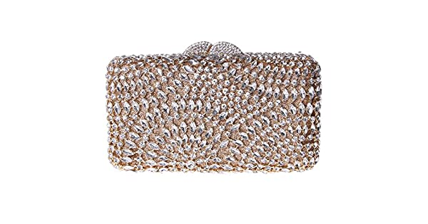 Amazon.com: fawziya Rhinestone Embrague cartera Bling vidrio ...