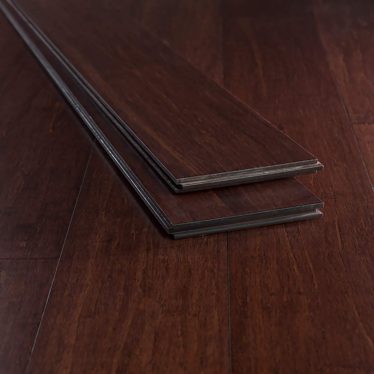 Ambient Bamboo - Bamboo Flooring Sample, Color: Espresso, Solid Strand Tongue and Groove