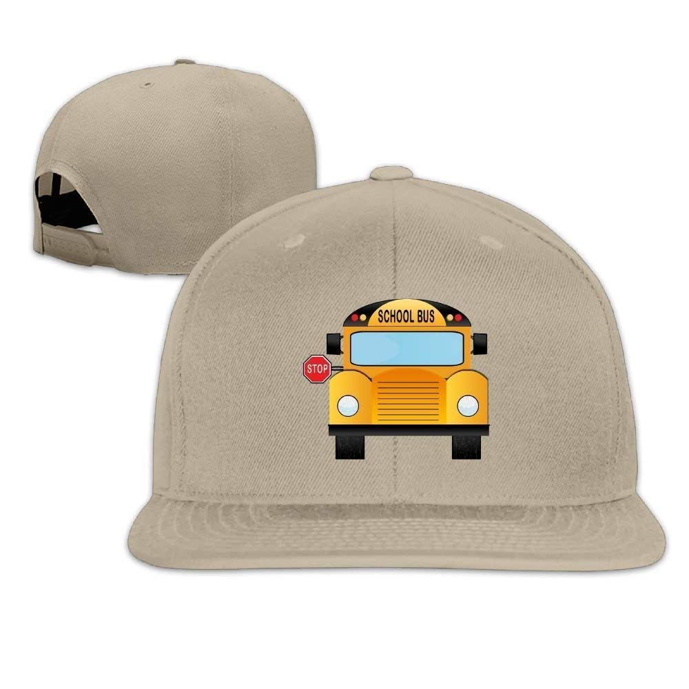 Bgejkos Moda School-Bus Flat Bill papá Sombreros Gorras de béisbol ...