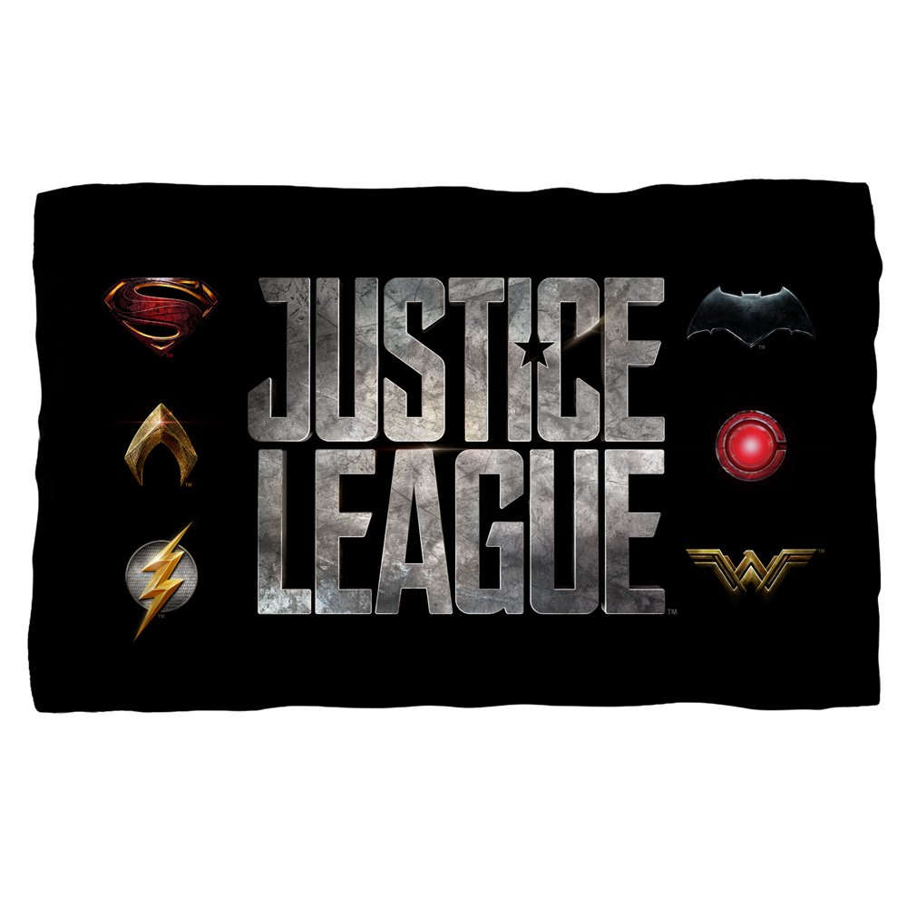 Justice League Movie Logos Fleece Throw Blanket