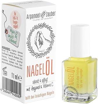 Arganoel-Zauber - Aceite para uñas y endurecedor de uñas, incluye pincel, fortalece y cuida las uñas
