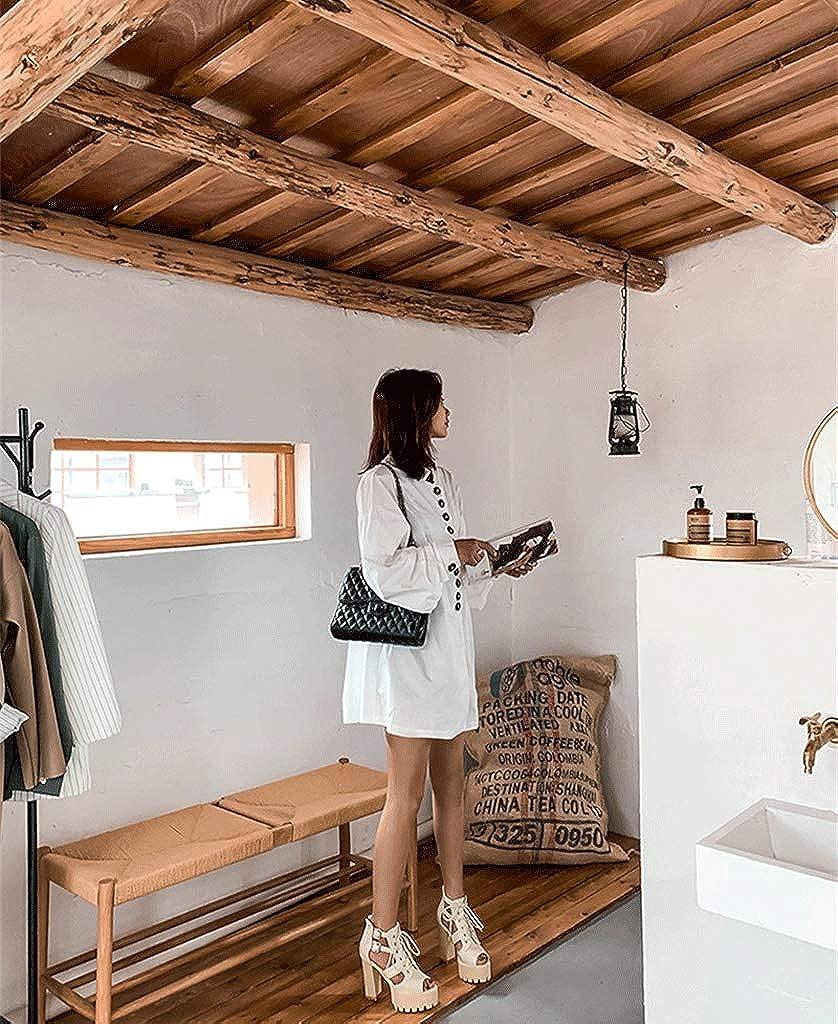 Sandali Impermeabili da Donna con Tacco Alto in Pizzo Europeo e Americano Beige IINNAh