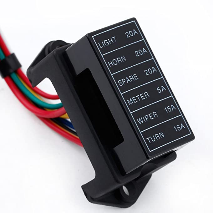 61YiAiBwD4L._SX681_ amazon com kkmoon 6 way dc32v circuit car trailer auto blade fuse waterproof fuse relay box facebook at soozxer.org
