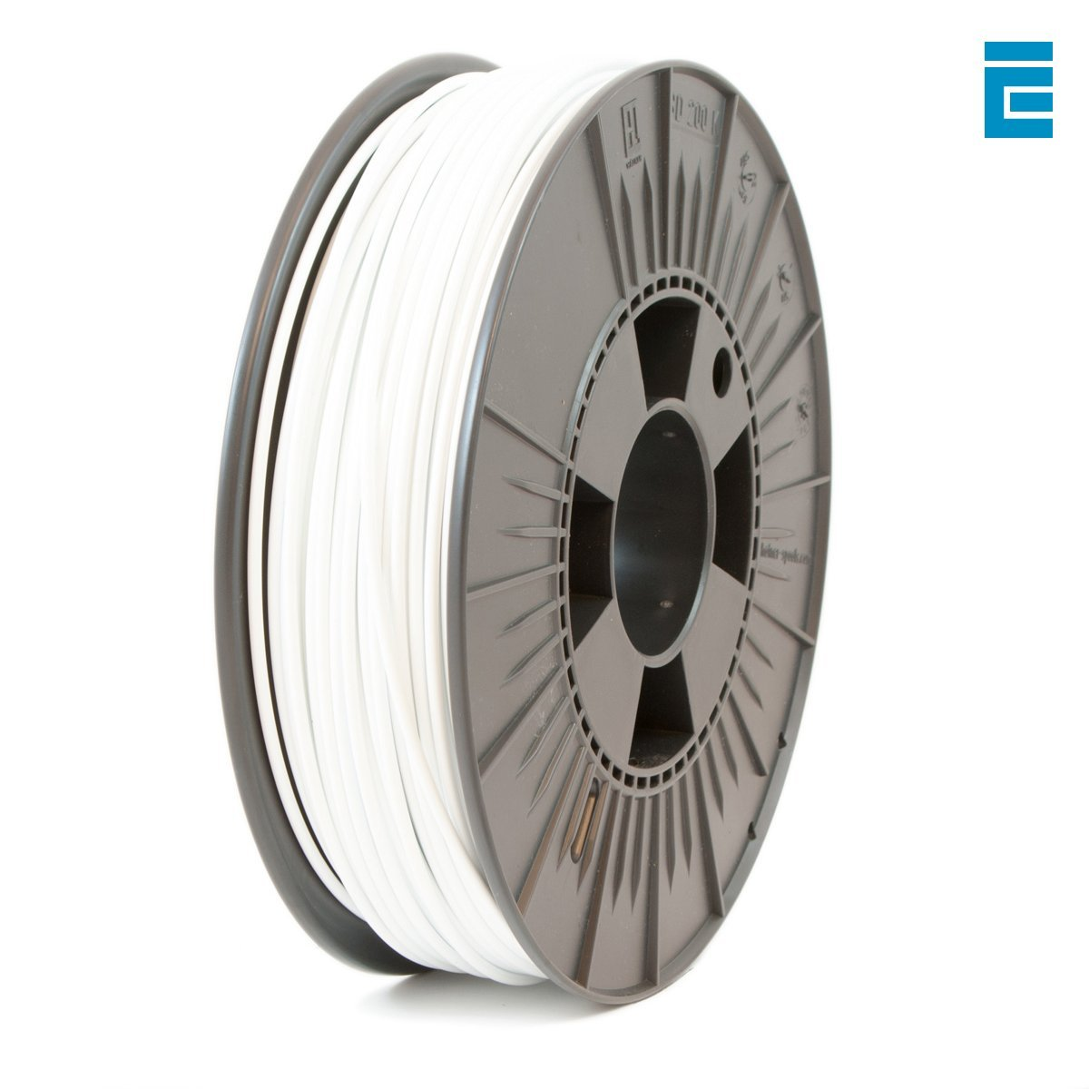 ICE FILAMENTS ICEFIL3PET249 PET Filament für 3D-Drucker, 2,85 mm, 2,30 kg, Wintershine White