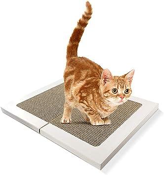 JQWGYMZB Papel Corrugado en un Gato Gato Almohadilla para el pie ...