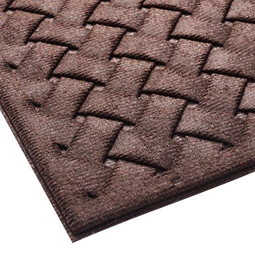 Mibao Large Indoor Outdoor Rug Entrance Way Patio Floor Doormat with Shoes Scraper for High Traffic Areas, 24