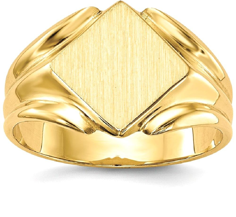 ICE CARATS 14k Yellow Gold Signet Band Ring Size 6.00 Fine Jewelry Gift Set For Women Heart