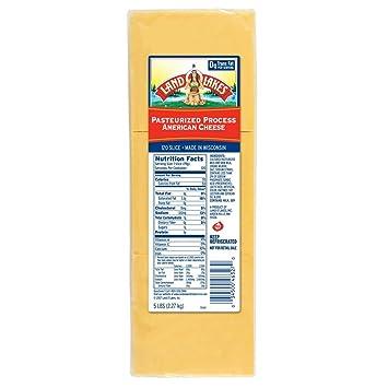 Land O Lakes American Yellow Process Cheese Slice, 5 Pound