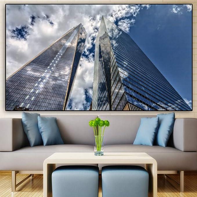 wangpdp Cartel Lienzo Pintura Paisaje impresión Rascacielos ...