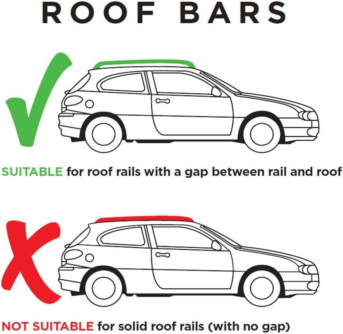 UKB4C Roof Rack Cross Bars fits Kia Ceed 2007-2012 estate 5 door