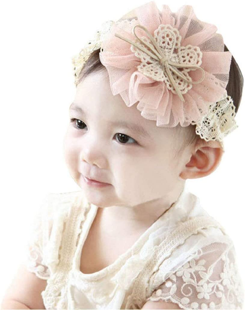 Flower with tulle and lace headband