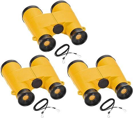 Toy Binoculars 5X30 Compact Foldable Binoculars Yellow with Neck Strap