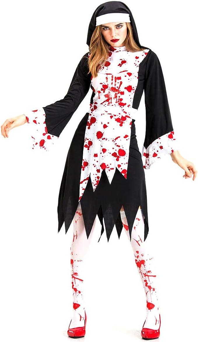 Fiyomet Disfraces de Halloween Vestidos Traje para Mujeres Horror ...
