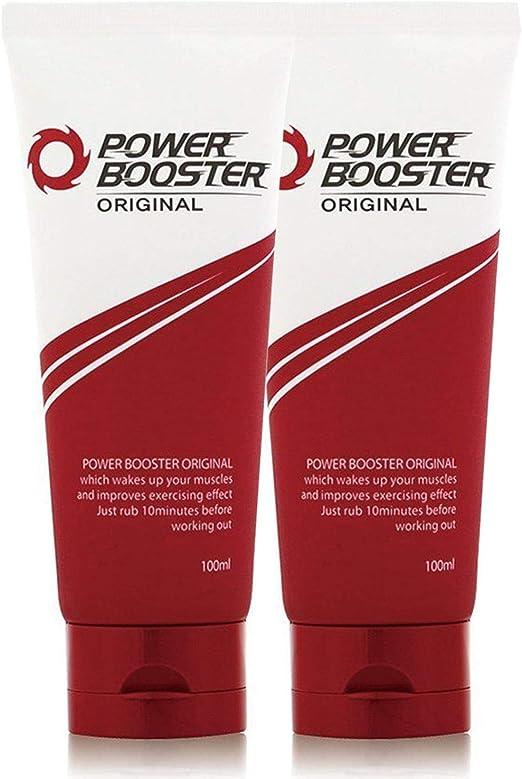 Potenciador de Entrenamiento Adelgazante Original PowerBooster Crema Relajante Muscular y Alivio del Dolor para Calentar, Reduce el Olor y el Sudor, ...