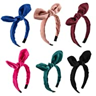 Carede Solid color Wired Bow Bowknot Hair Hoop Plastic Headband Headwear Accessory for Lady Girls Women …