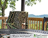 """Pure Country Weavers """"Celtic Cross Blanket"""" Tapestry Throw"""