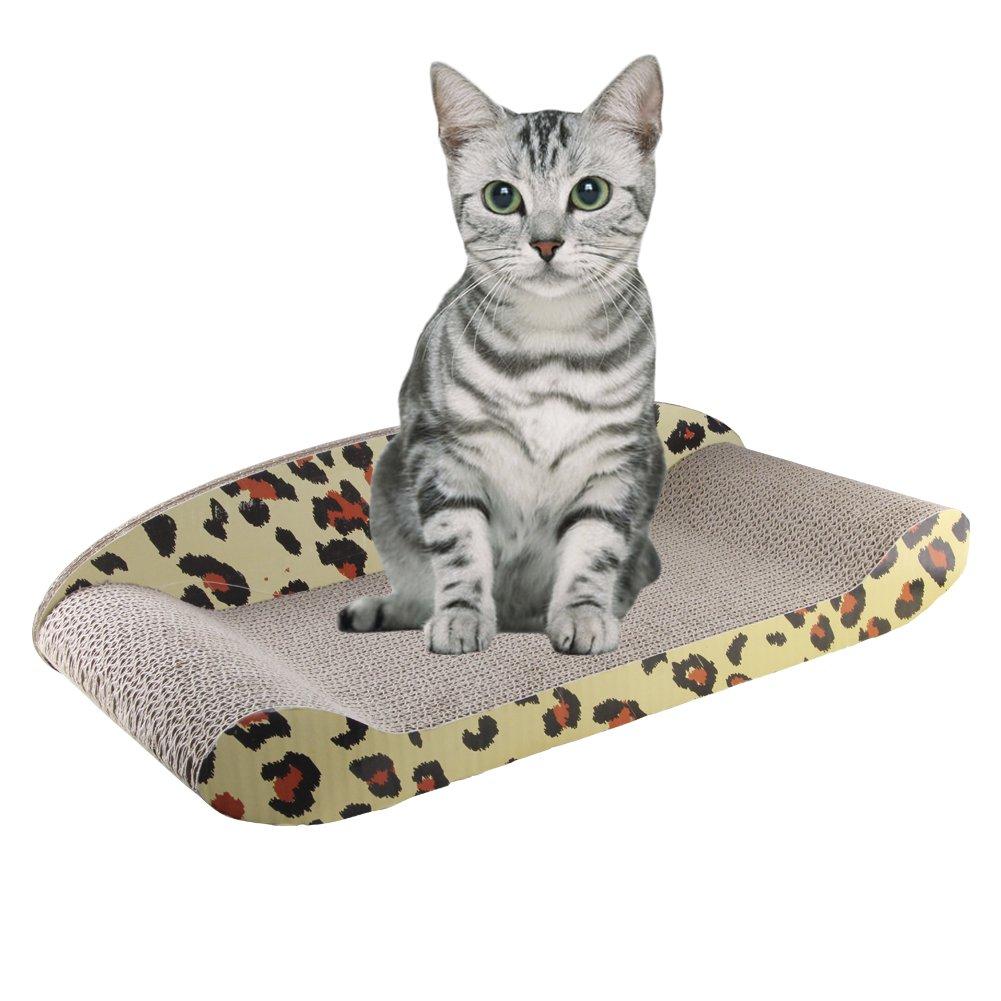 Amazon.com : Kitty Sofa Deluxe   The Modern Corrugated Cardboard Lounger  Bed Cat Scratcher Large Cardboard Kitty Couch Protect Your Furniture From  Getting ...