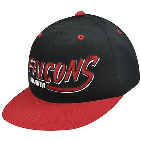 NFL ATLANTA FALCONS rojo negro de la vieja escuela gorra sombrero ...