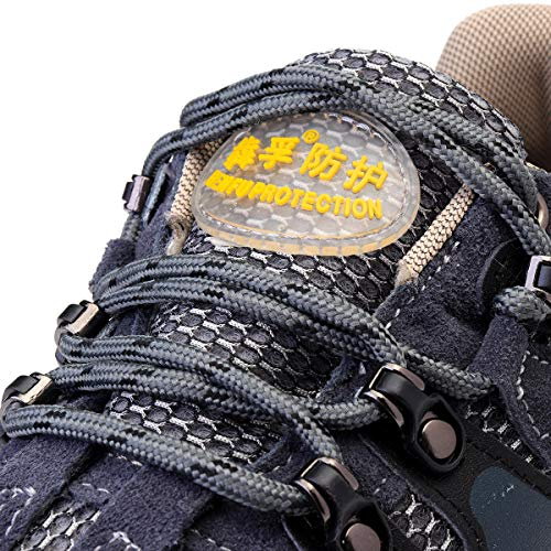 Men's Safety Shoes Steel Toe Work Sneakers Slip Resistant Breathable Hiking Climbing Shoes - 7.5 by Anddoa (Image #1)