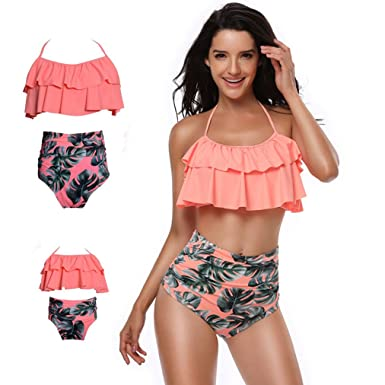 d01796e40553d Amazon.com: Mother and Daughter Swimsuit Mommy and me Swimwear ...