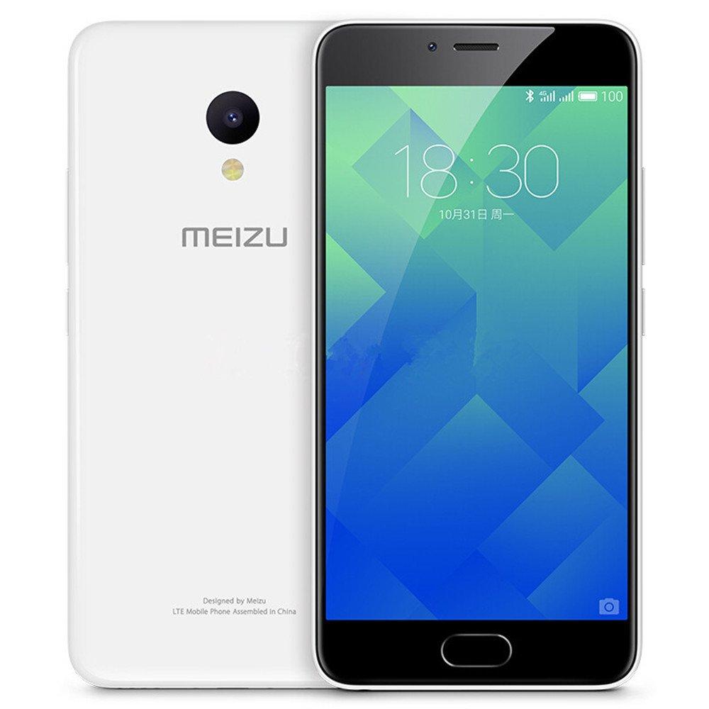Meizu M5 Meilan 5 M611A Unlocked smartphone 4G FDD-LTE Cell phone 5.2'' HD Screen Mediatek MT6750 Octa Core 1.5 GHz 2GB RAM+16GB ROM 3070mAh (Glacier White)