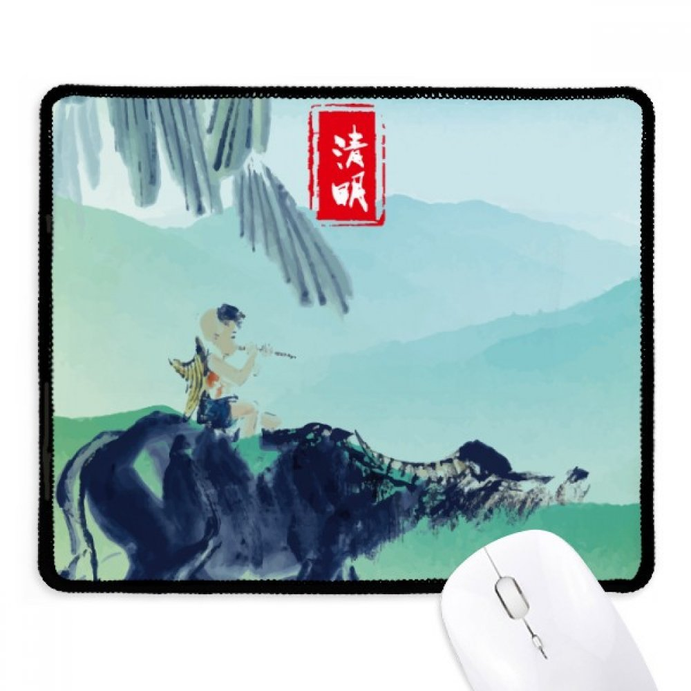 Excited Insects Twenty Four Solar Term Non-Slip Mousepad Game Office Black Stitched Edges Gift
