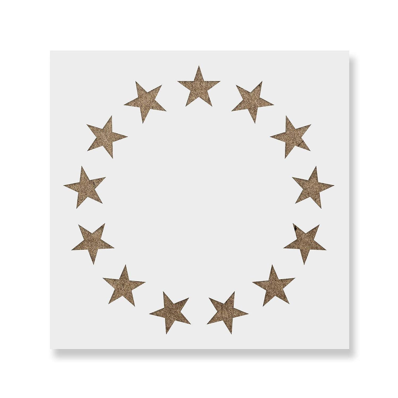 超歓迎された Betsy Ross starsステンシルテンプレート – 再利用可能なステンシルwith複数サイズあり 25\ Ross 25