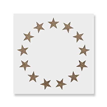 amazon com betsy ross stars stencil template reusable stencil