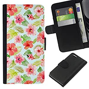 Stuss Case / Funda Carcasa PU de Cuero - Mint Rosa Rojo Verde - Apple Iphone 5C
