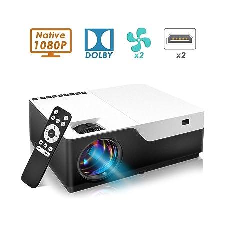 Proyector Proyector 1080P Cine en casa HD 7500Lux Admite ...