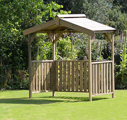 Garden Outdoor Wooden Gazebo, BBQ shelter, Pavilion, Hot Tub, Pergola in Pressure Treated Solid Wood - 10 year warranty against Rot (BBQ Shelter)