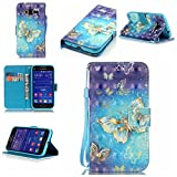 Galaxy Core Prime Case,IVY [Golden Butterfly][3D Visual Effect][Strap Kickstand Case][PU Leather Wallet] For - Best Reviews Guide