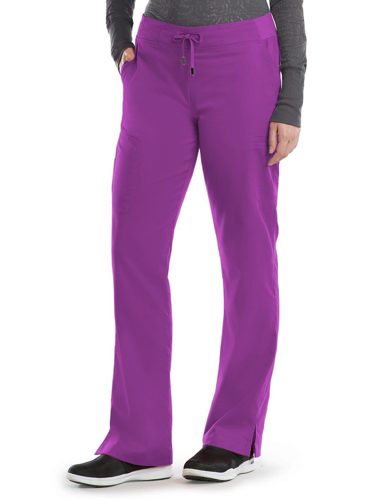 Grey's Anatomy 4277 Straight Leg Pant Very Berry M Tall