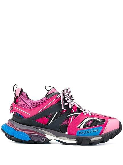 Balenciaga Mujer 542436W1GB85482 Fucsia Cuero Zapatillas: Amazon.es: Zapatos y complementos