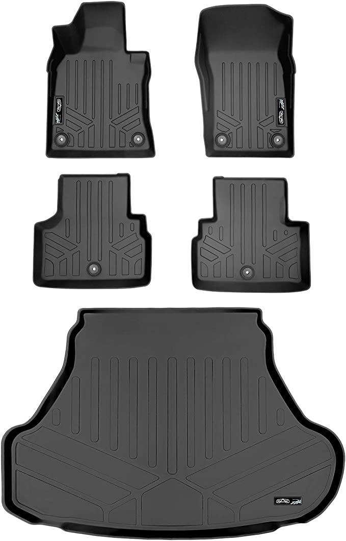 Coverking Custom Fit Front Floor Mats for Select Audi A8 Models Nylon Carpet Black
