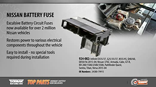 Look at Video in Ad Dorman 924-082 Battery Circuit Fuse fits Nissan Infiniti