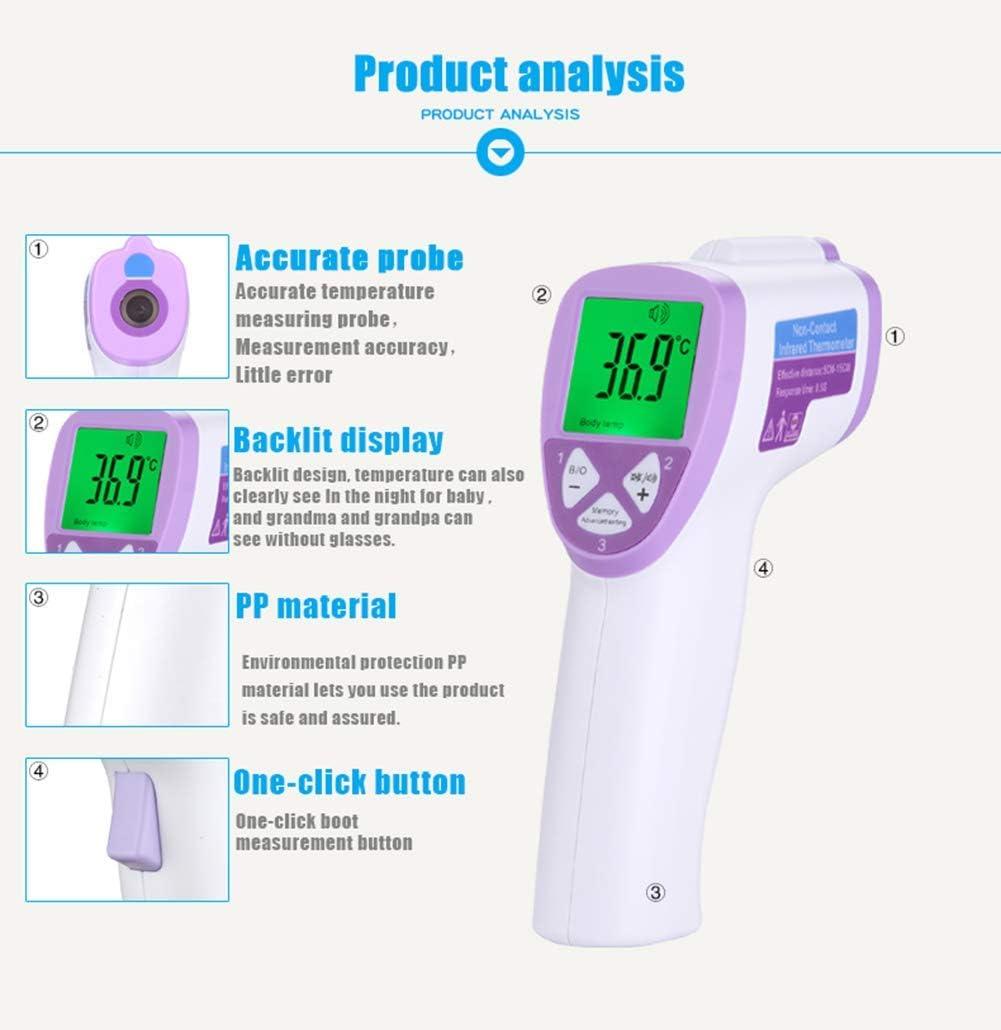 Thermomètre Sans Contact Infrarouge Température Numérique LCD Bébé Fièvre
