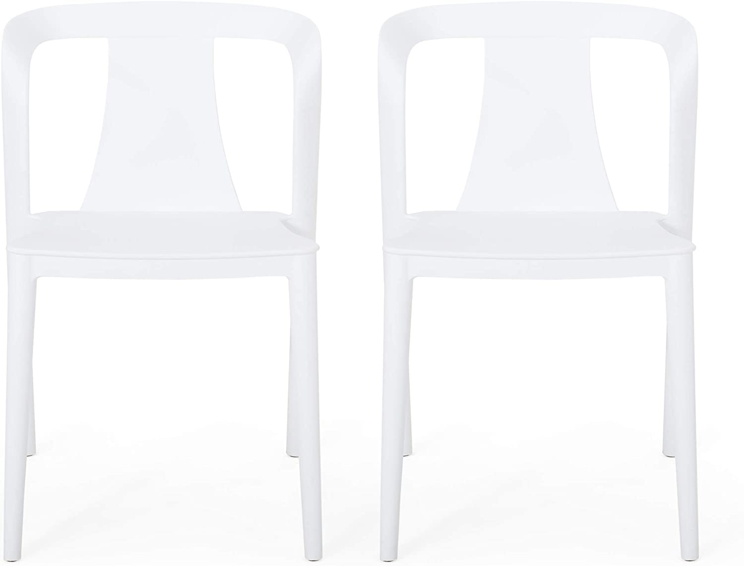 Christopher Knight Home 312171 Ianthe Outdoor Dining Chair (Set of 2), White