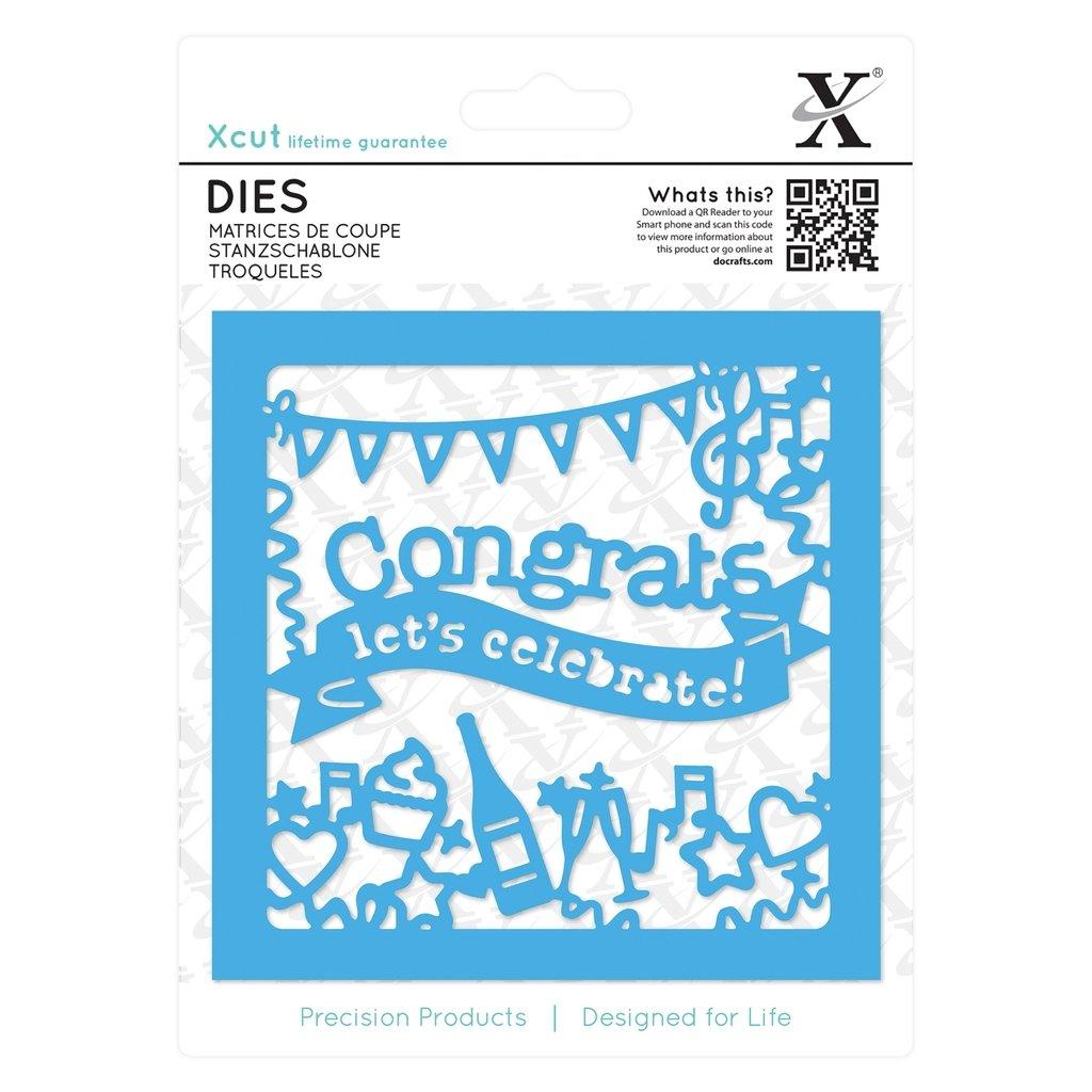 Xcut (Docrafts) Congratulations Topper Die Set (1pc) Paper Card Craft B01H22HRNQ       Zuverlässige Qualität