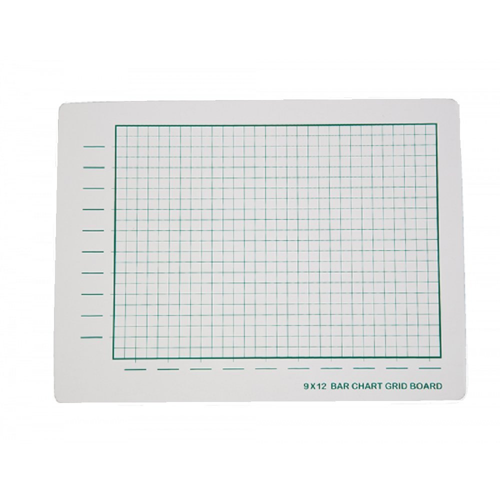 Pack of 12 Two-Sided Bar Chart Grid Boards (9x12in)